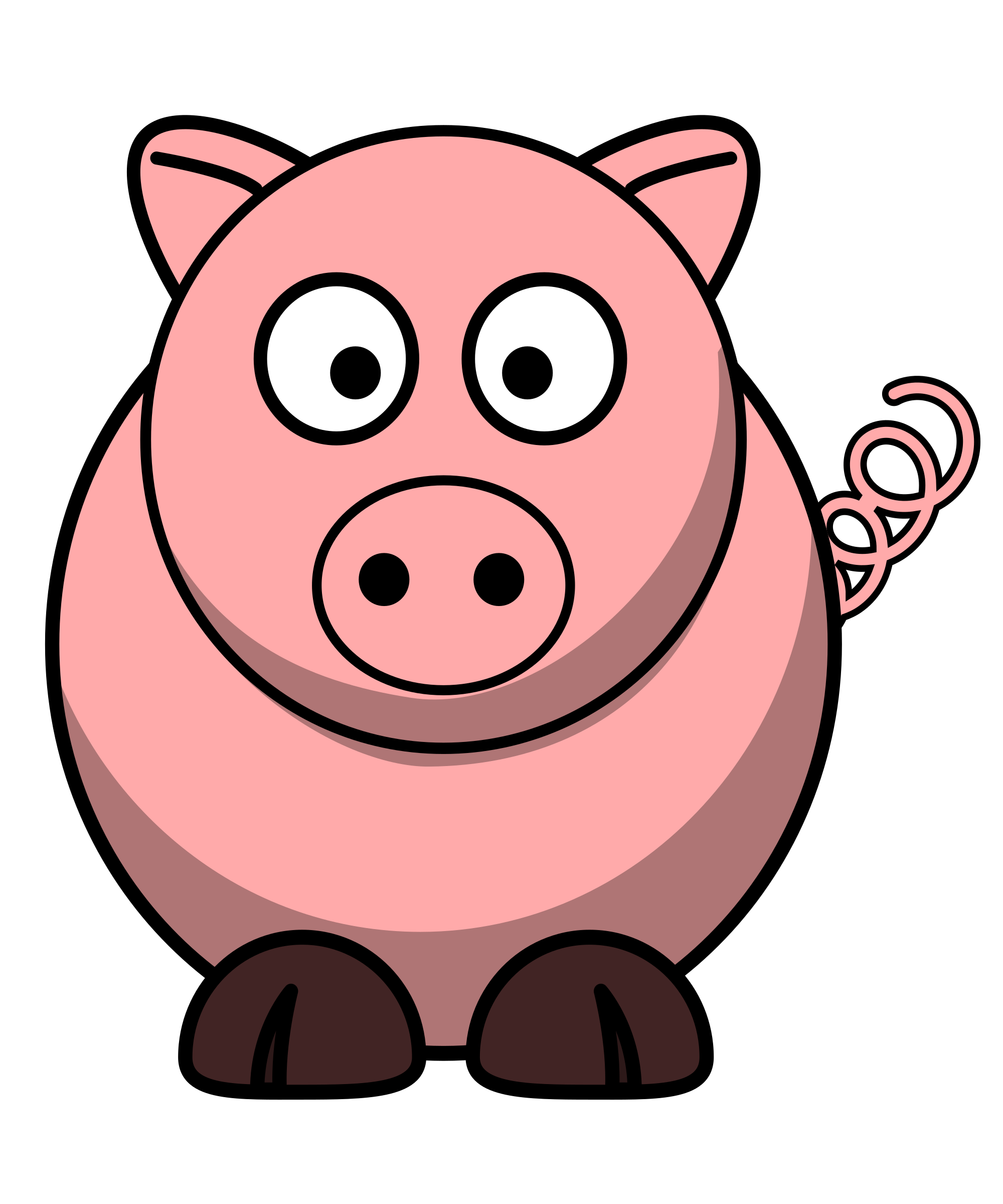 Pig laying down outline clipart vector png png freeuse stock Fat clipart pig - 188 transparent clip arts, images and ... png freeuse stock