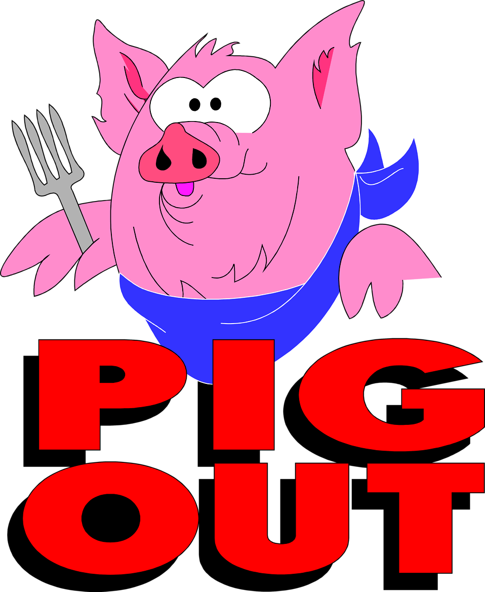 Pig out clipart graphic royalty free library Pig | Free Stock Photo | Illustration of a pig and pig out ... graphic royalty free library