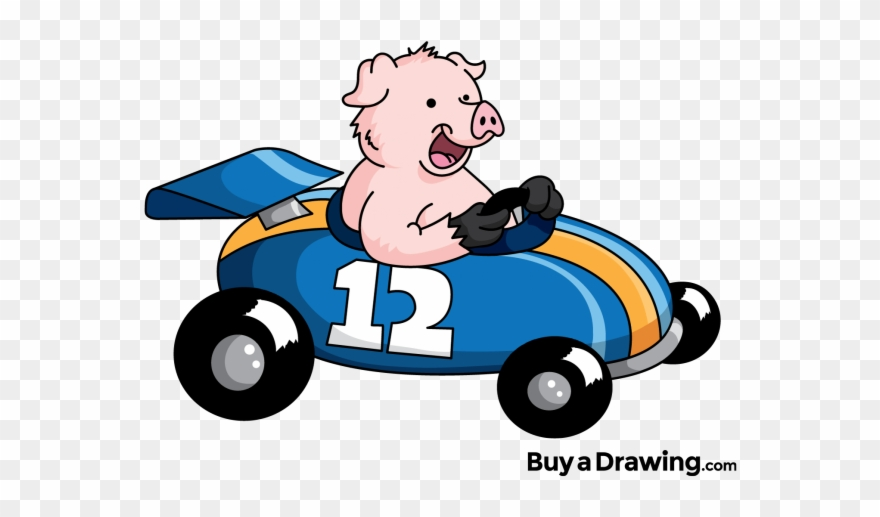 Pig racing clipart clip art freeuse library Pig Clipart Race - Pig In A Race Car - Png Download (#505929 ... clip art freeuse library