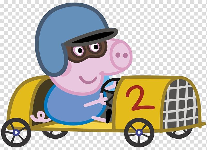 Pig racing clipart clipart royalty free stock Peppa Pig ride-on go-kart, Granny Pig Grandpa Pig George\'s ... clipart royalty free stock