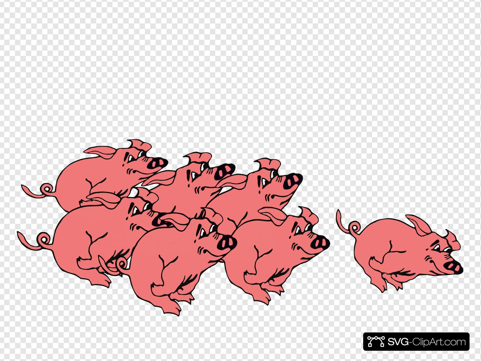 Pig racing clipart clip art transparent library Pigs Racing Without Numbers Clip art, Icon and SVG - SVG Clipart clip art transparent library