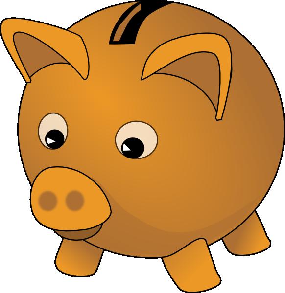 Piggy bank clip art picture freeuse Piggy bank with coins free clip art - Clipartix picture freeuse