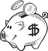 Piggy bank clipart black and white svg freeuse Piggy bank clipart black and white - ClipartFest svg freeuse