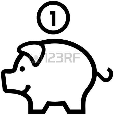 Piggy bank clipart black and white transparent download Piggy Banks Stock Vector Illustration And Royalty Free Piggy Banks ... transparent download