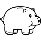 Piggy bank clipart black and white graphic transparent library Piggy Bank Clipart Black And White | Clipart Panda - Free Clipart ... graphic transparent library