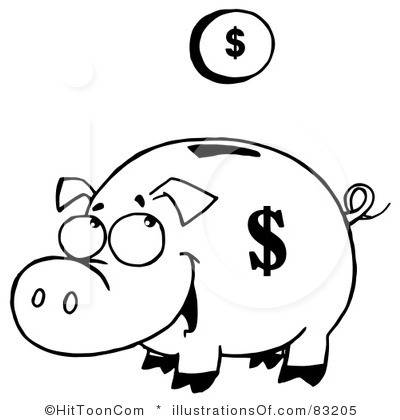 Piggy bank clipart free picture royalty free download Free piggy bank clipart black and white - ClipartFest picture royalty free download