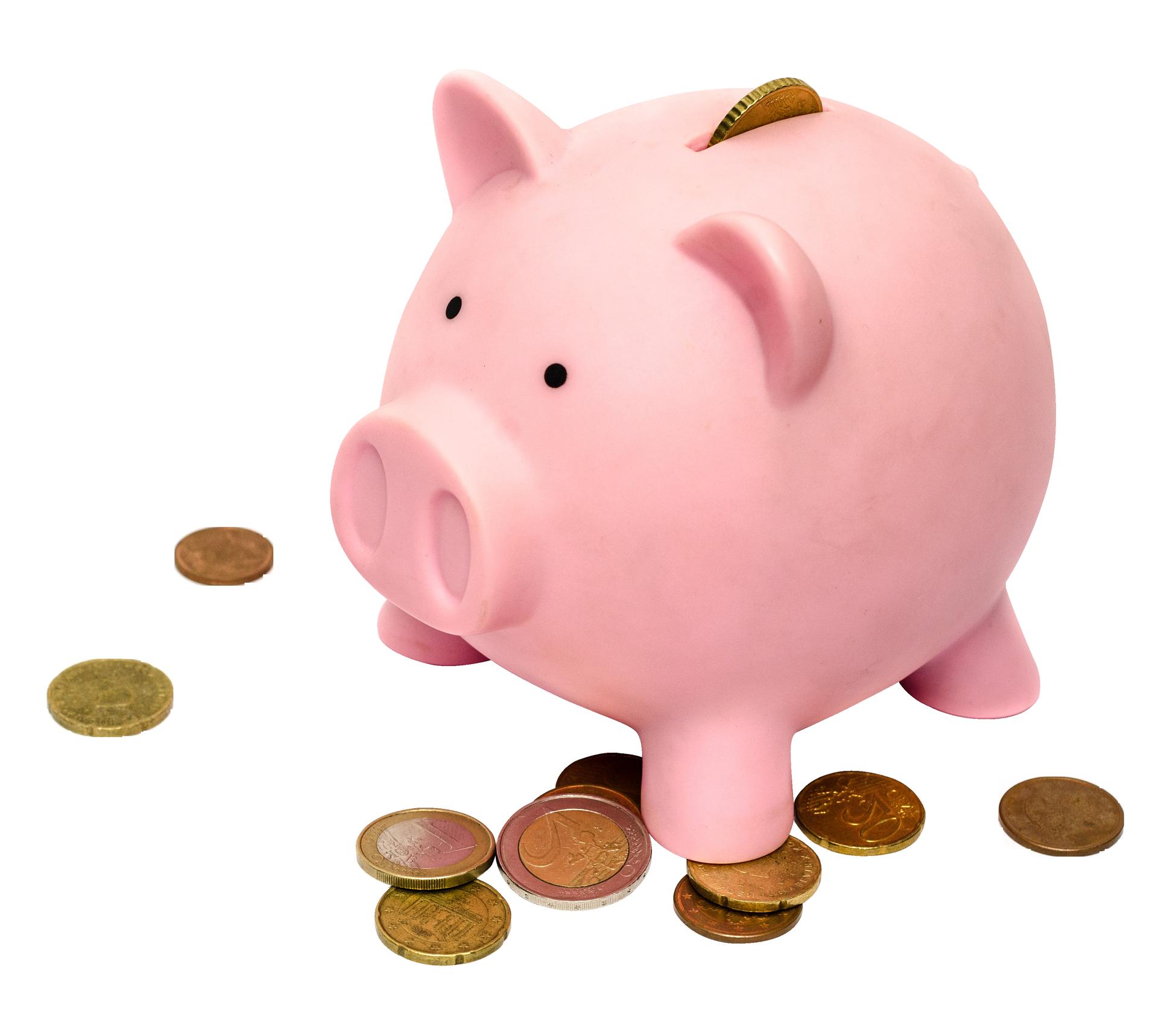 Piggy bank saving money clipart