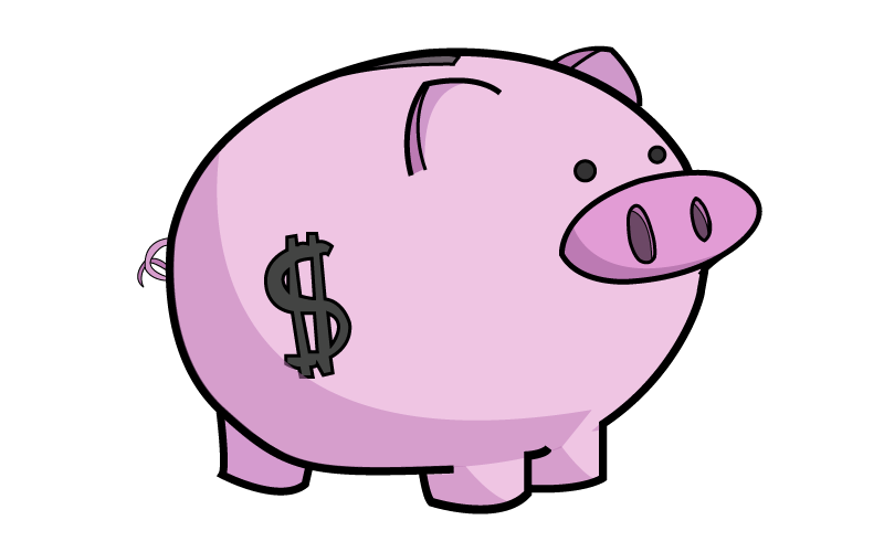 Clipart piggy bank svg stock Cute Piggy Bank Clipart #Ut9Blz - Clipart Kid svg stock