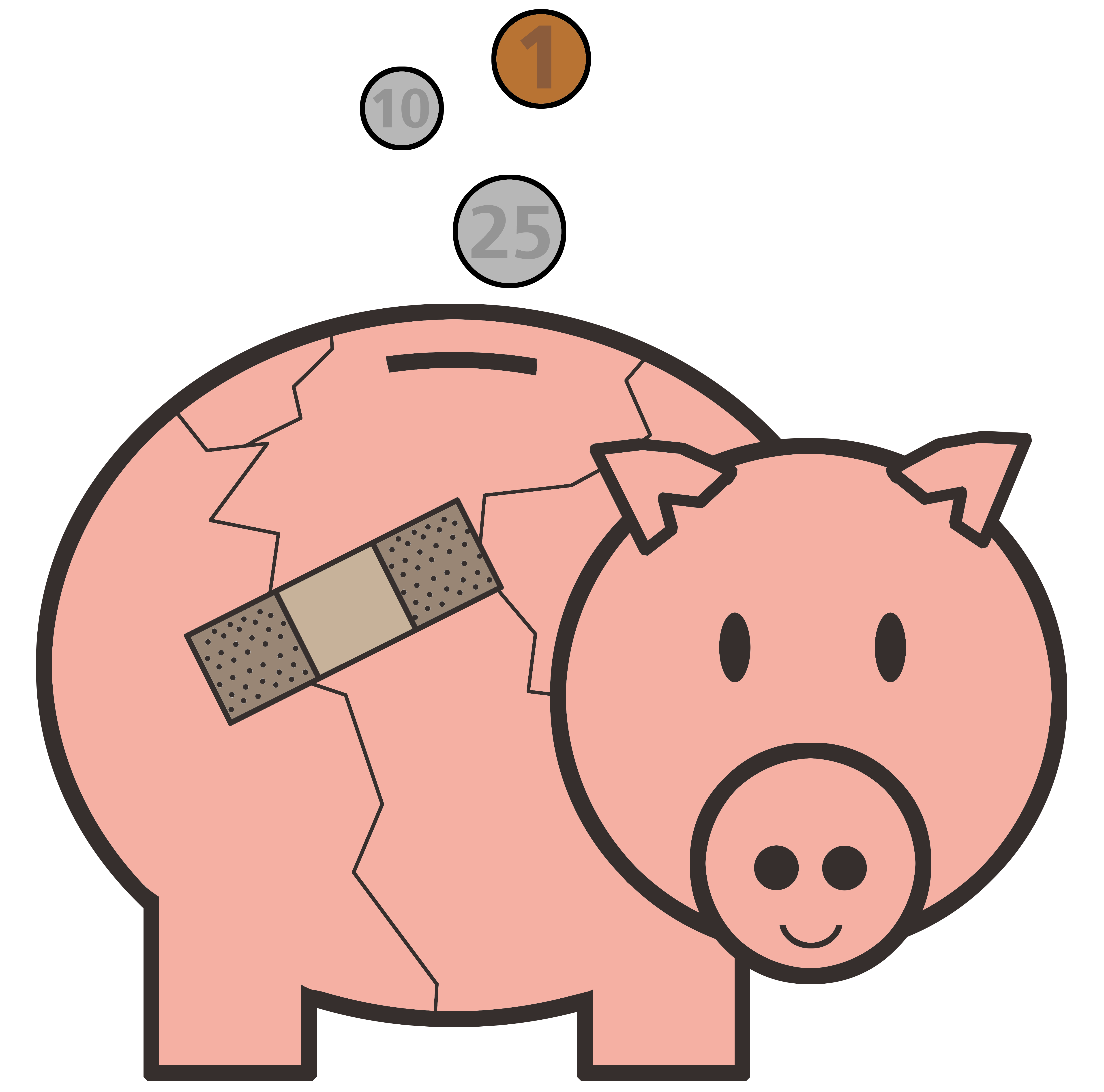 Piggy bank clipart kids image transparent library Mending the Piggy Bank image transparent library