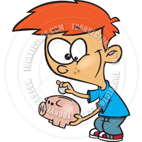 Piggy bank clipart kids saving clip freeuse library Cartoon Boy Saving Money in Piggy Bank by Ron Leishman   Toon ... clip freeuse library