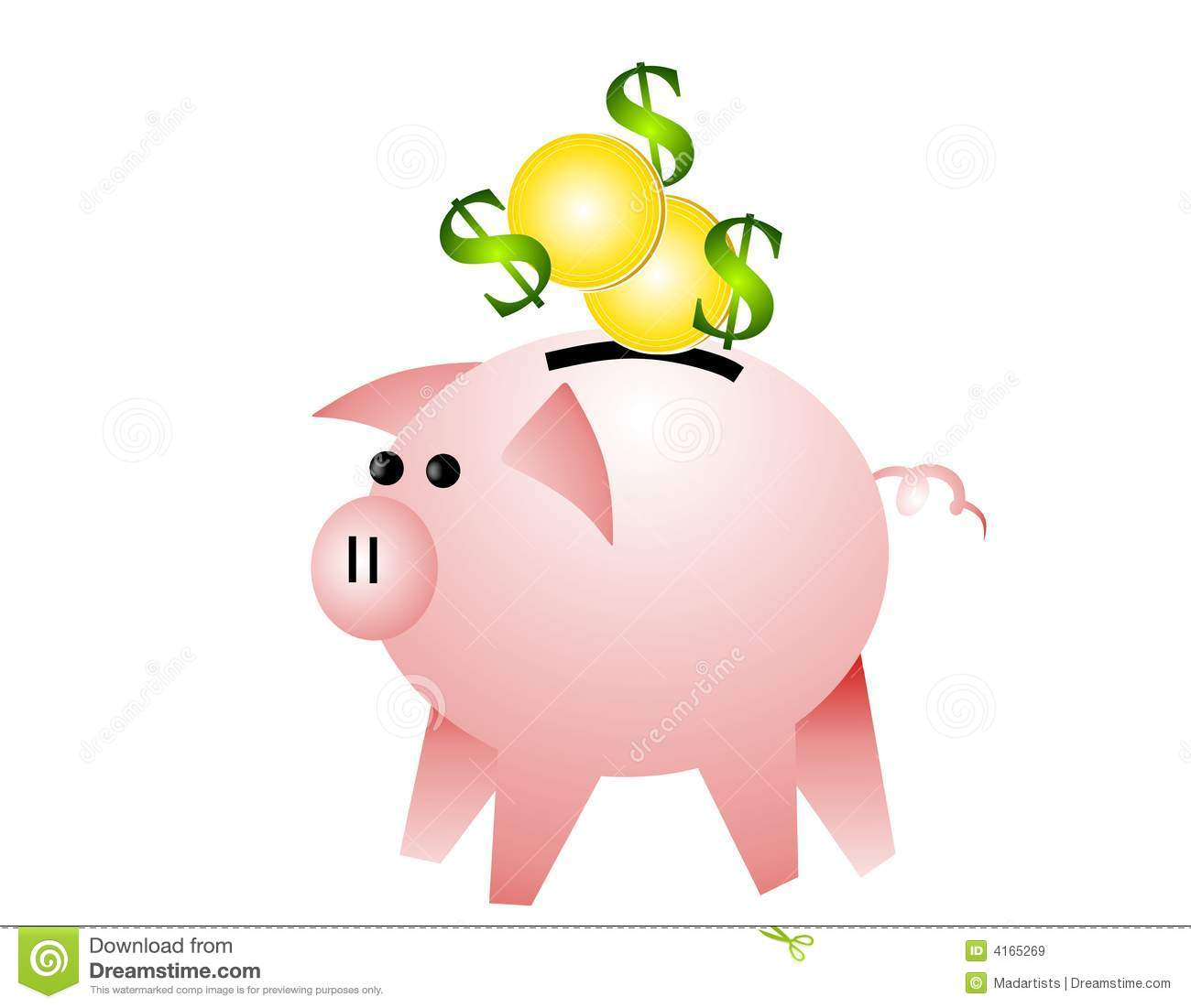 Piggy bank clipart kids saving clip art royalty free Saving Money Clipart - Clipart Kid clip art royalty free