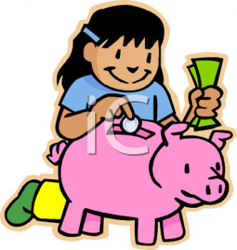 Piggy bank clipart kids saving vector black and white download Save Money Clipart - Clipart Kid vector black and white download