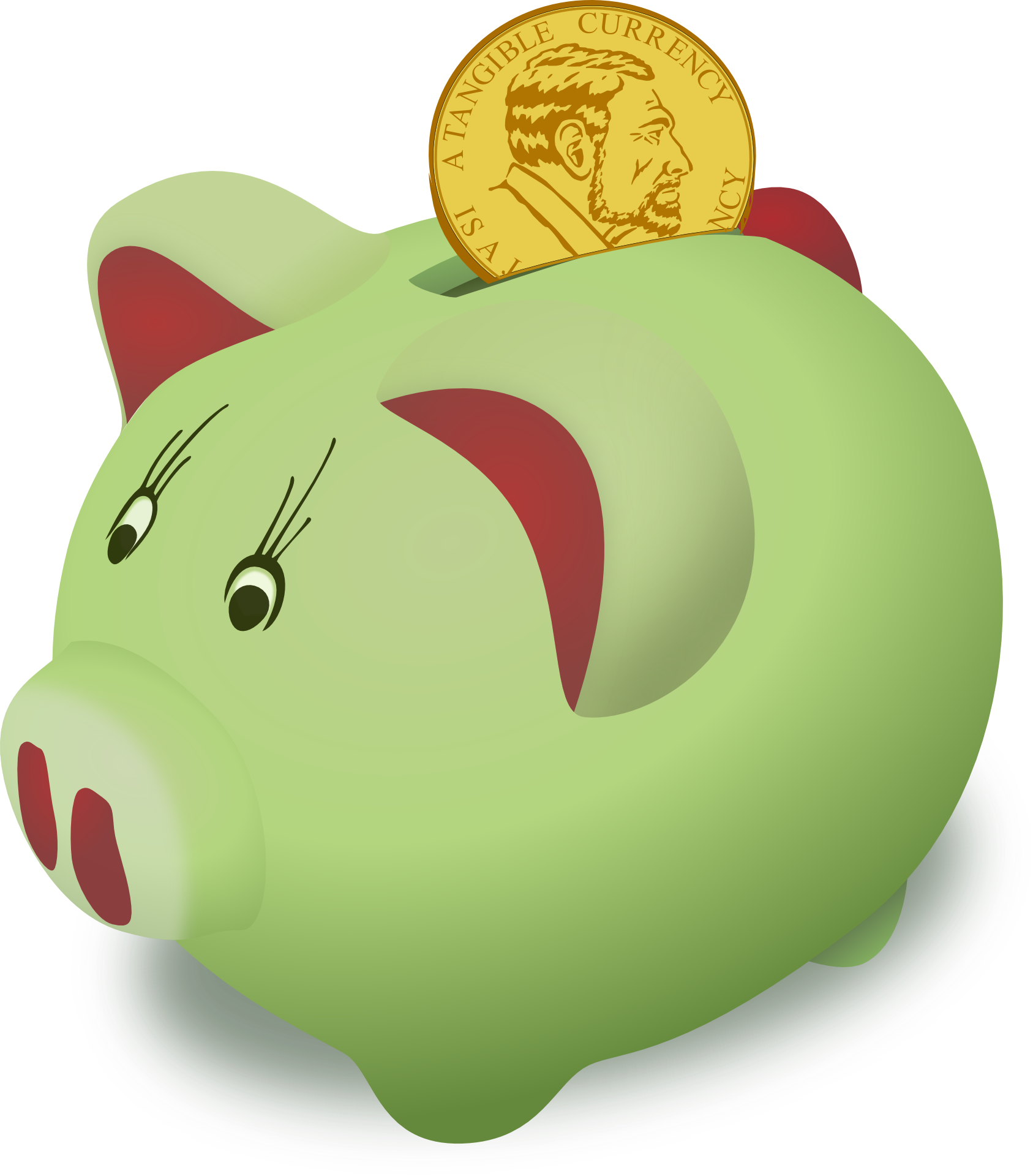 Piggy bank clipart kids saving clip royalty free Teach kids about growing money – Miss Fingy clip royalty free