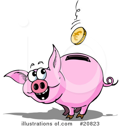 Piggy bank clipart kids saving banner transparent library Piggy Clipart - Clipart Kid banner transparent library