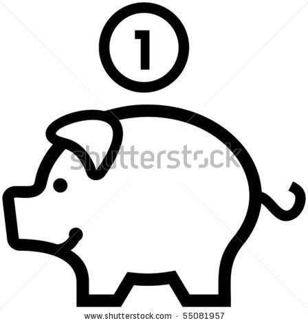 Piggy bank clipart outline png royalty free Empty Piggy Bank Clipart | Clipart Panda - Free Clipart Images png royalty free