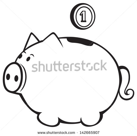 Piggy bank clipart outline image transparent download Piggy Bank Outline Stock Photos, Royalty-Free Images & Vectors ... image transparent download