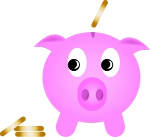Piggy bank money clipart vector black and white Clip art piggy bank - WikiClipArt vector black and white