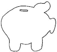Piggy bank money clipart coloring page cute clipart free stock Piggy Bank Coloring Page - Coloring Pages & Books clipart free stock