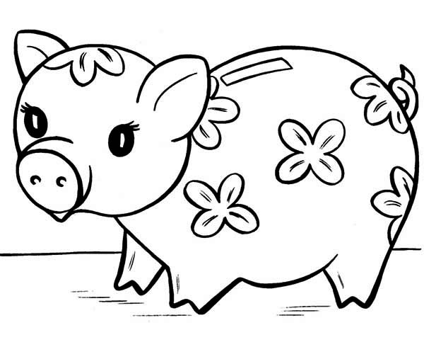 Piggy bank money clipart coloring page cute clipart download piggy bank coloring page piggy bank money clipart coloring page ... clipart download