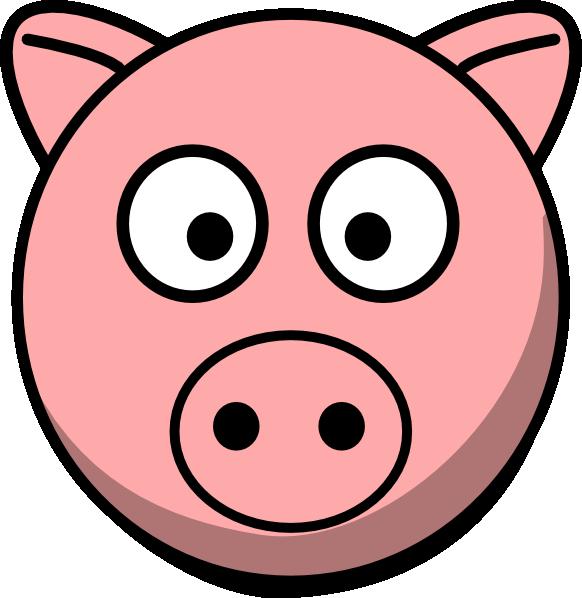 Pighead clipart graphic royalty free library Pig Head Clip Art at Clker.com - vector clip art online ... graphic royalty free library