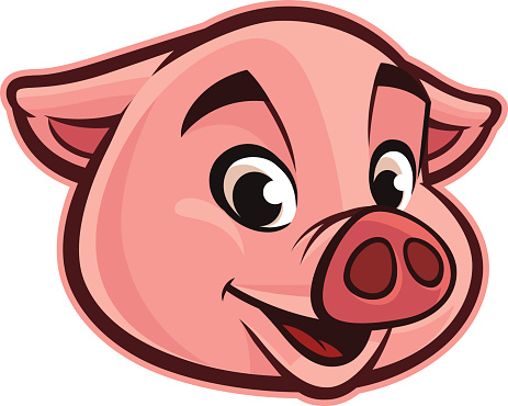 Pighead clipart png library Pig face pig head clipart clipartxtras - WikiClipArt png library