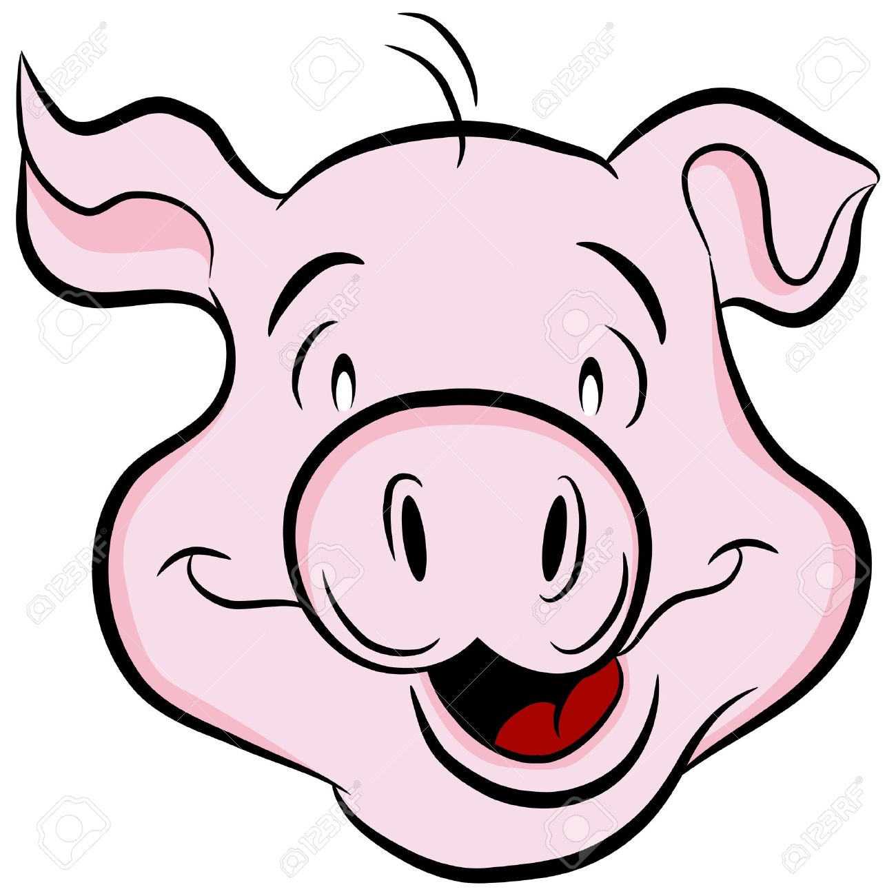 Pighead clipart free library Pig head clipart 4 » Clipart Station free library