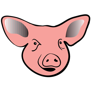 Pighead clipart graphic black and white pig head clipart, cliparts of pig head free download (wmf ... graphic black and white