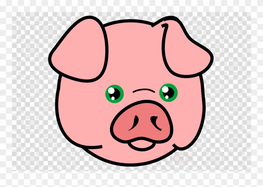 Pighead clipart graphic black and white library Download Pig Head Png Clipart Domestic Pig Clip Art - Pig ... graphic black and white library