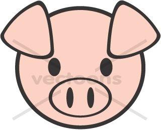 Pighead clipart clip transparent download Young Pig Head - Animals - Buy Clip Art | Buy Illustrations ... clip transparent download