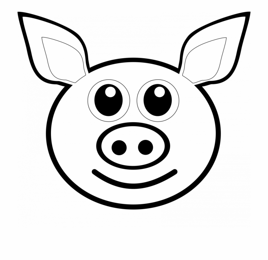 Pigs head on a fish clipart free graphic free Pigs Drawing At Getdrawings - Draw A Pig Head, Transparent ... graphic free