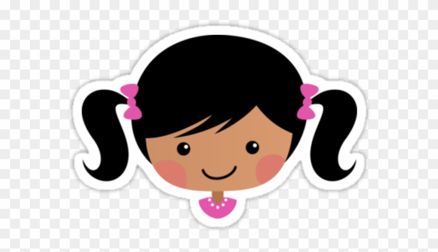 Pigtail clipart clipart free library Pink Hair Clipart Pigtail Hair - Png Download (#3045400 ... clipart free library