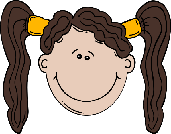 Pigtail clipart banner transparent stock Girl Face Cartoon With Pigtail PNG, SVG Clip art for Web ... banner transparent stock