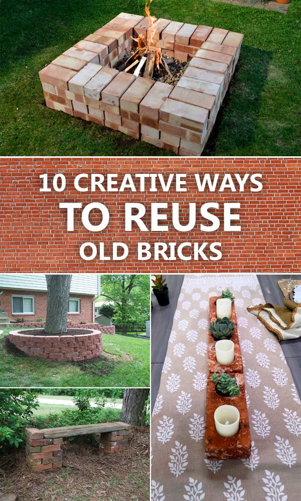 Pile of bricks in the backyard clipart free 10 Creative Ways To Reuse Old Bricks | Best DIY projects ... free