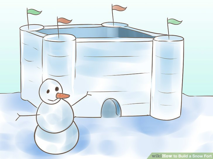 Pile of bricks in the backyard clipart svg free library How to Build a Snow Fort: 11 Steps (with Pictures) - wikiHow svg free library
