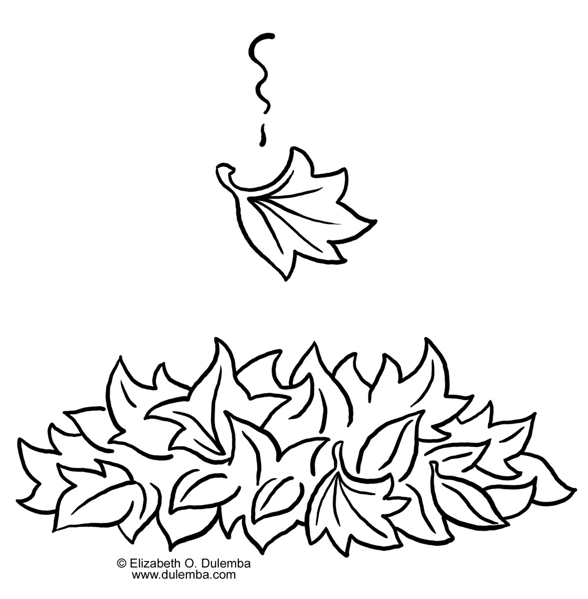 Pile of leaves clipart black and white image freeuse stock Leaf Pile Clipart Black And White image freeuse stock