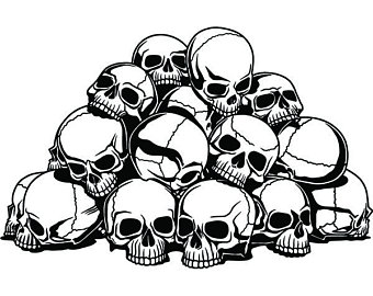 Pile of skulls black and white clipart picture free Skull Pile Drawing at PaintingValley.com | Explore ... picture free