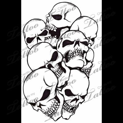 Pile of skulls black and white clipart freeuse library Marketplace Tattoo Pile of Skulls #272 | CreateMyTattoo.com ... freeuse library