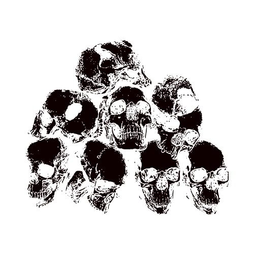 Pile of skulls black and white clipart graphic library download OD-SKULL PILE Clip Art - Get Started At ThatShirt! graphic library download