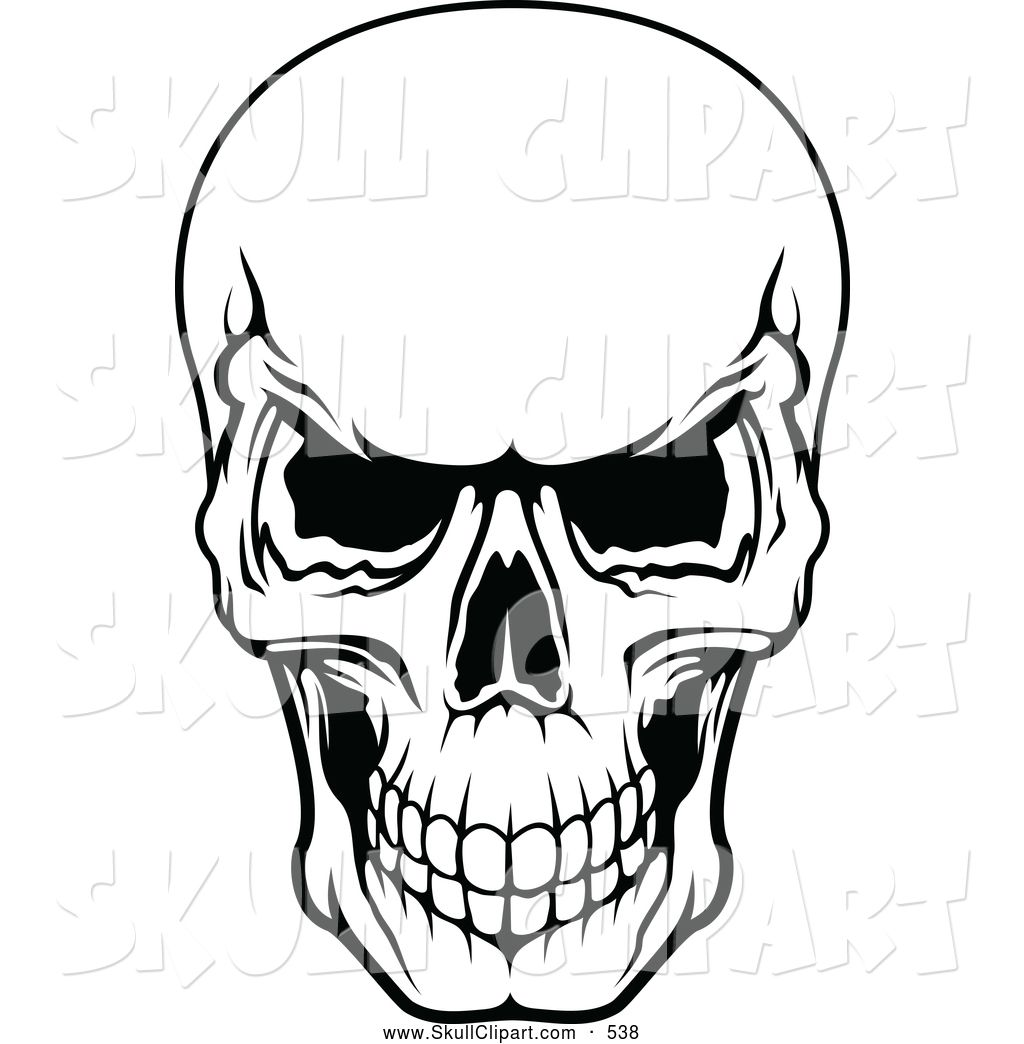 Pile of skulls black and white clipart picture royalty free download scary scull Clip Art | Vector Clip Art of a Frightening ... picture royalty free download