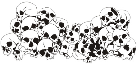 Pile of skulls black and white clipart vector library download Skull Pile Drawing at PaintingValley.com | Explore ... vector library download