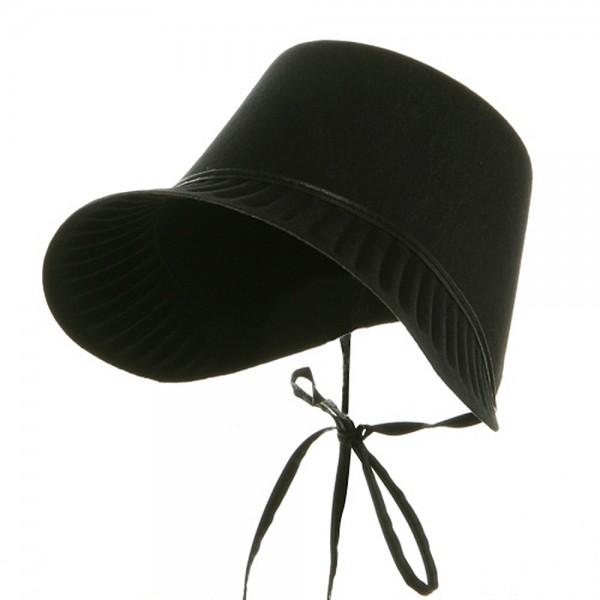 Pilgrim bonnet clipart png transparent download Thanksgiving Permafelt Pilgrim Bonnet-Black png transparent download