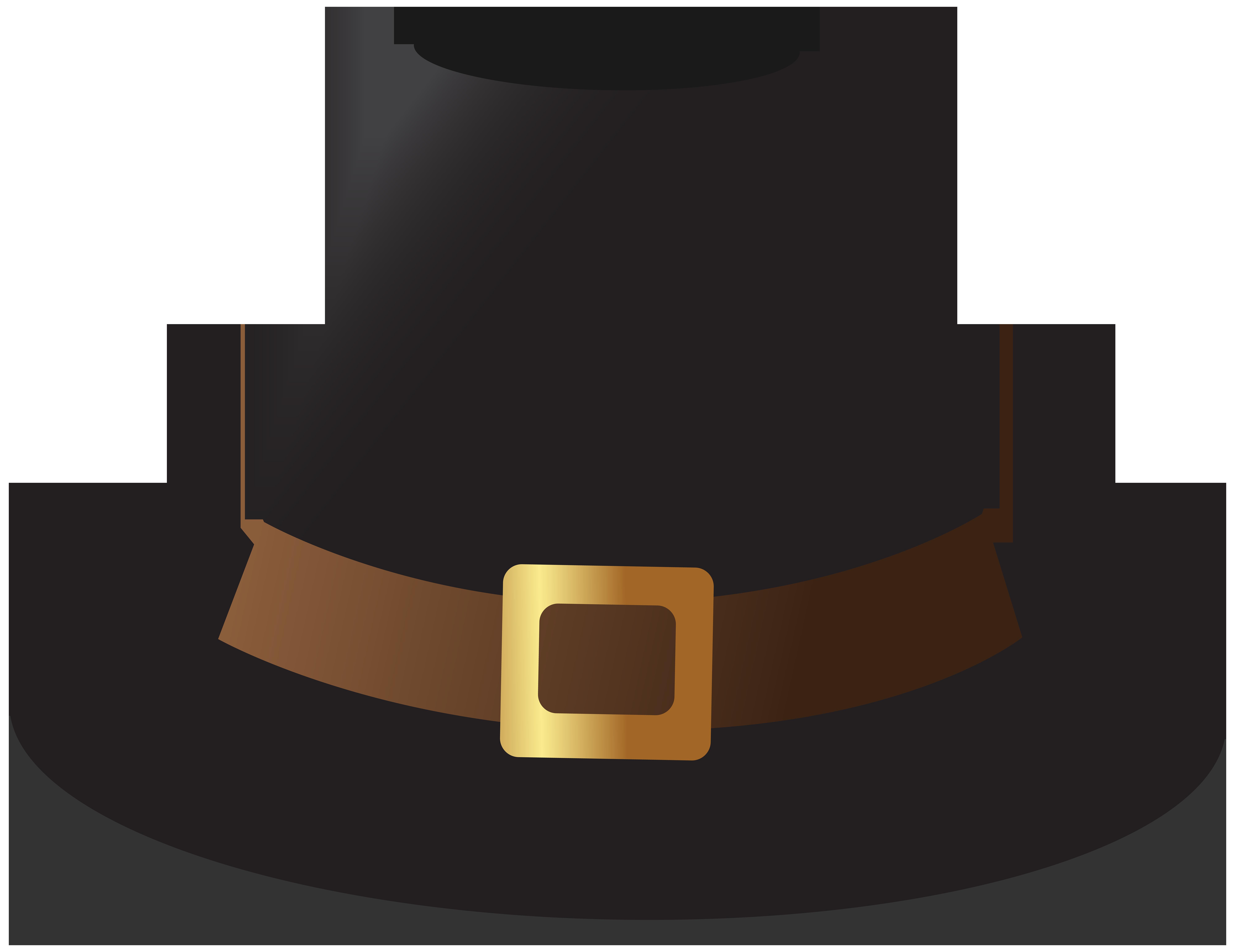Thanksgiving hat clipart clip art freeuse library Black Pilgrim Hat Transparent PNG Image | Gallery Yopriceville ... clip art freeuse library