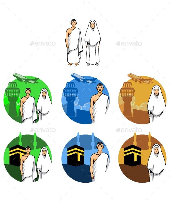 Pilgrimage to mecca clipart clip art stock Hajj Go To Mecca by alaikazizi | GraphicRiver clip art stock