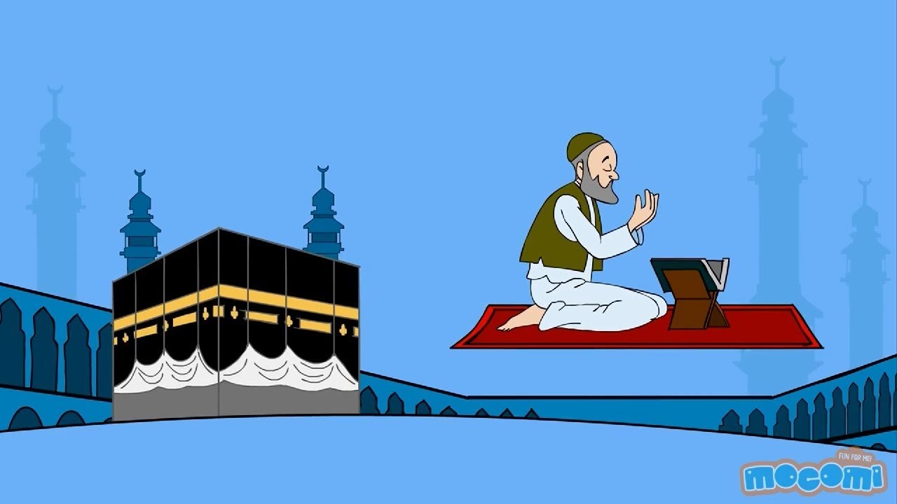Pilgrimage to mecca clipart graphic freeuse library Mecca The Sacred City - Kaaba Facts for Kids | Educational Videos by Mocomi graphic freeuse library