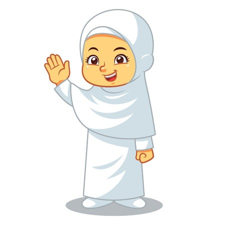 Pilgrimage to mecca clipart svg transparent library Moslem girl hajj wearing ihram pilgrimage to mecca ... svg transparent library