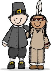 Pilgrims and indians clipart by melon headz picture library download Folk art Pilgrim with arm around Indian vector art ... picture library download