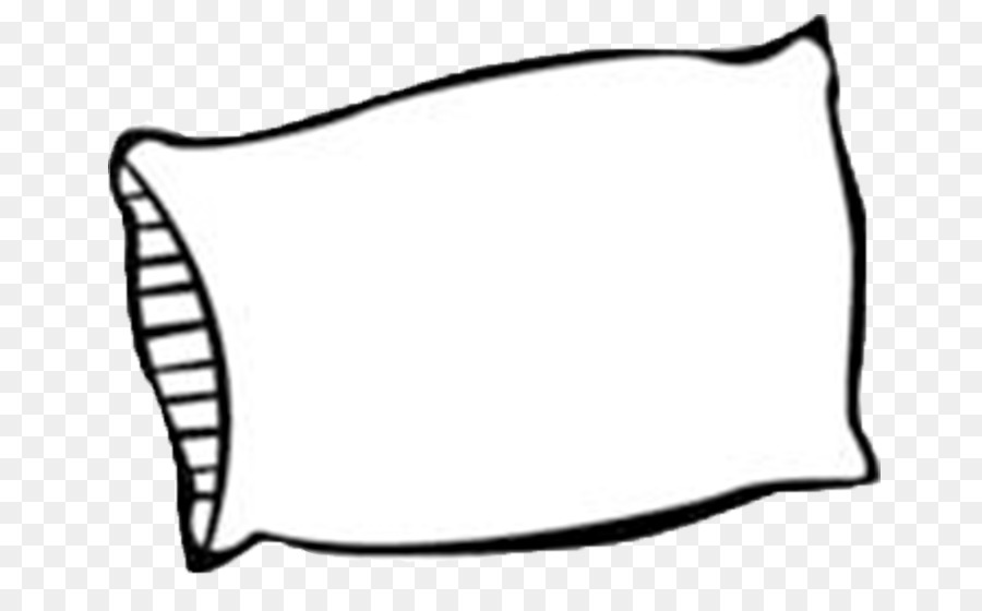 Pillw clipart png library Line Cartoon clipart - Pillow, White, Black, transparent ... png library
