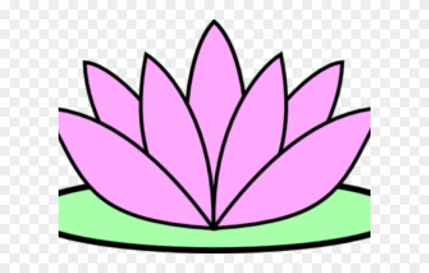 Pin lotus clipart transparent library Lotus Clipart - Lotus Flower Easy Drawing - Png Download ... transparent library