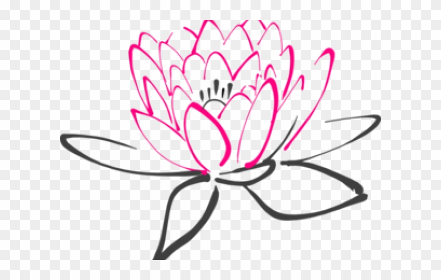 Pin lotus clipart graphic royalty free library Lotus Clipart Abstract Flower - Fiore Di Loto Stilizzato ... graphic royalty free library