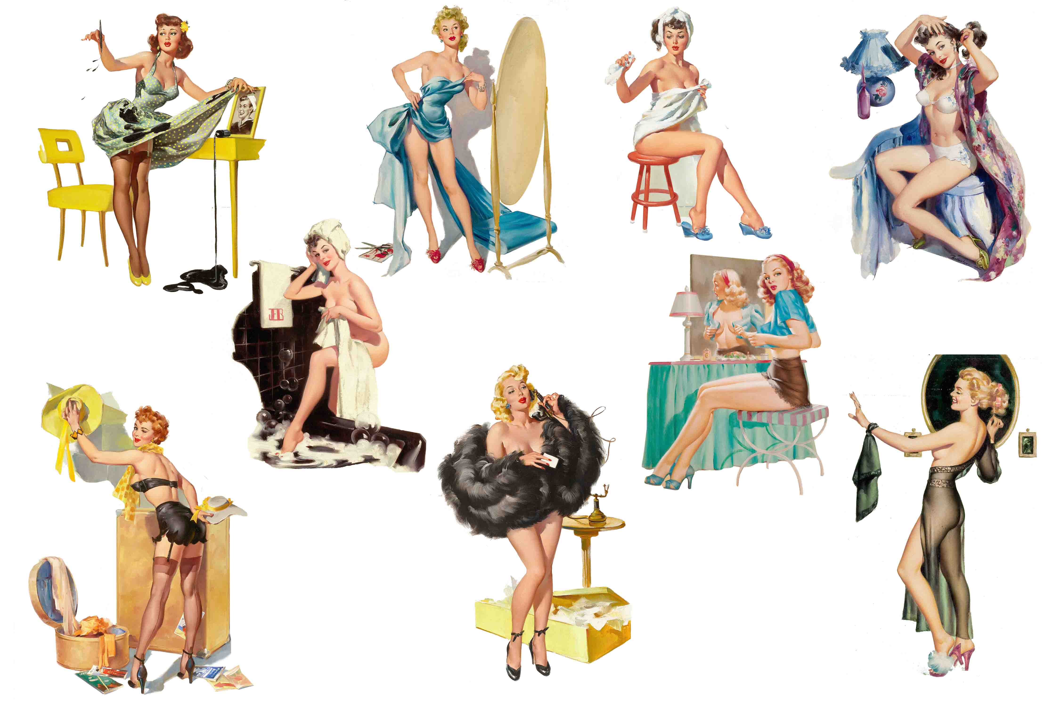 Pin up clipart picture black and white stock Pin Up Girls Clipart picture black and white stock